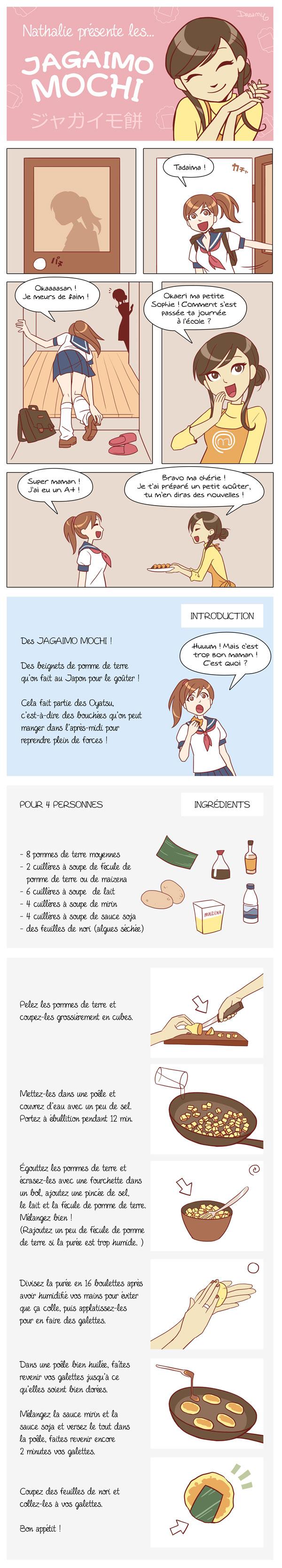 La recette des Jagaimo Mochi !