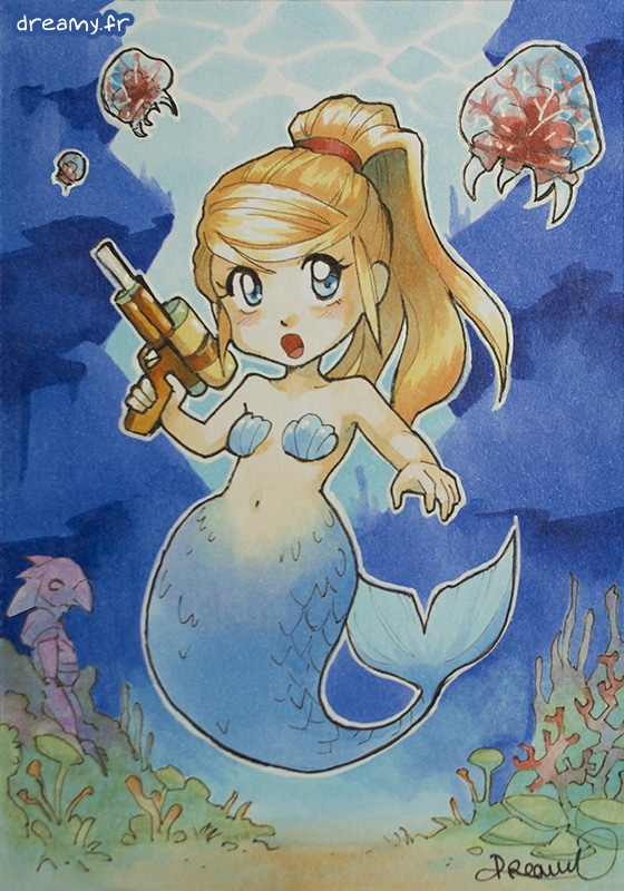 Metroid - Mermaid Samus